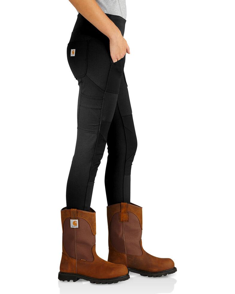 37dbdd7fc3f54 Zoomed Image Carhartt Women's Black Force Utility Knit Leggings, Black,  hi-res