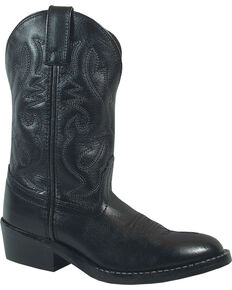Smoky Mountain Youth Boys' Denver Western Boots - Round Toe, Black, hi-res