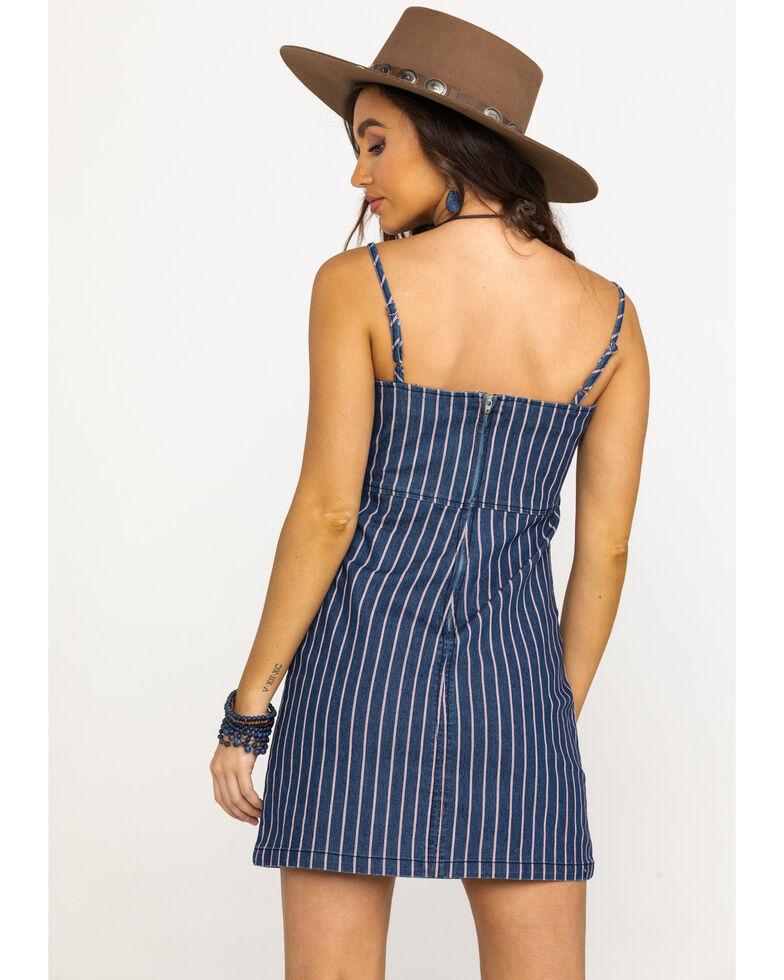 Others Follow Women's Blue Pinstripe Bondi Dress, Blue, hi-res