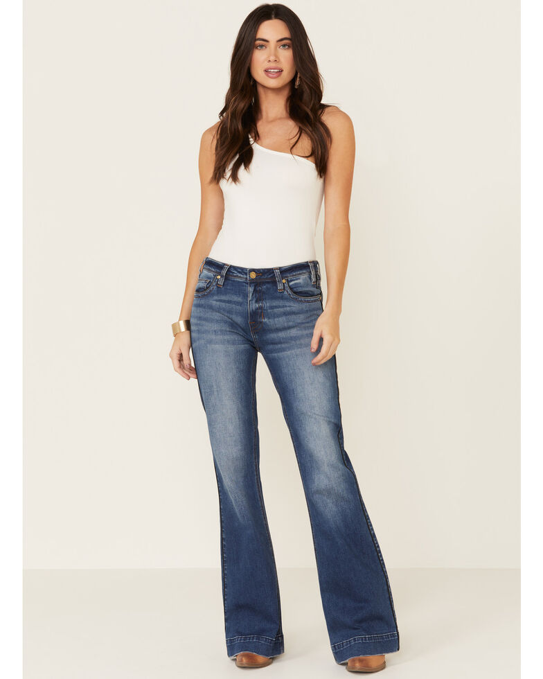 Rock & Roll Denim Women's Basic Trouser Jeans, Blue, hi-res