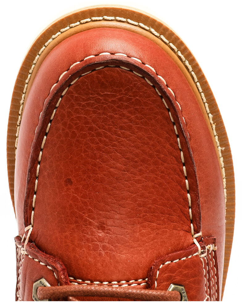 Hawx Men's Grade Moc Wedge Work Boots - Moc Toe, Red, hi-res