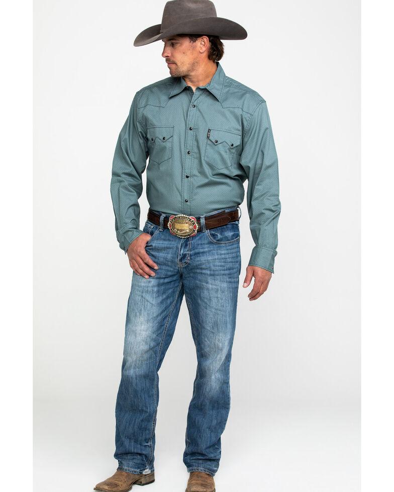 Cinch Men's Multi Modern Geo Print Snap Long Sleeve Western Shirt , Purple, hi-res