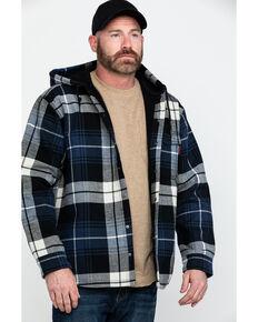 Wolverine Men's Buckshaw Plaid Bonded Hooded Work Shirt Jacket , Blue, hi-res