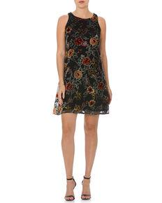 Miss Me Women's Black Electric Boom Floral Dress , Black, hi-res