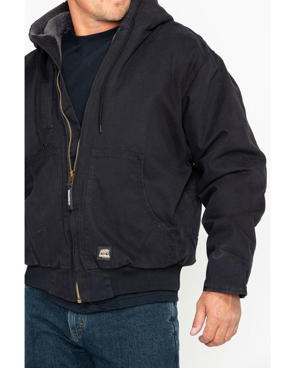 Berne Men's Flex 180 Washed Hooded Work Jacket , Black, hi-res