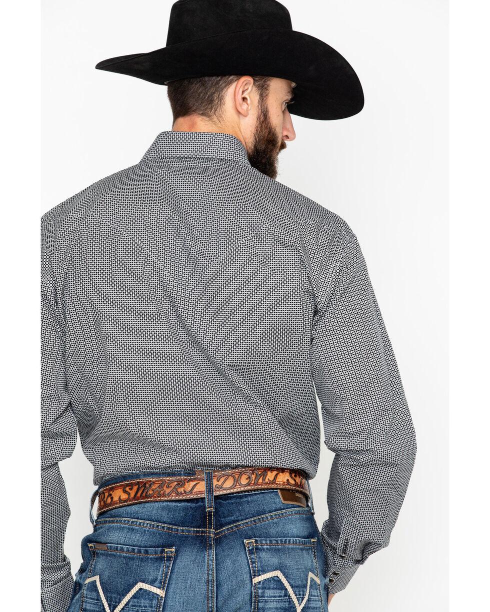 Stetson Men's Black Geo Print Long Sleeve Western Shirt , Black, hi-res