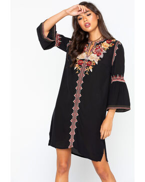 Johnny Was Women's Artemis Flare Sleeve Tunic Dress , Black, hi-res