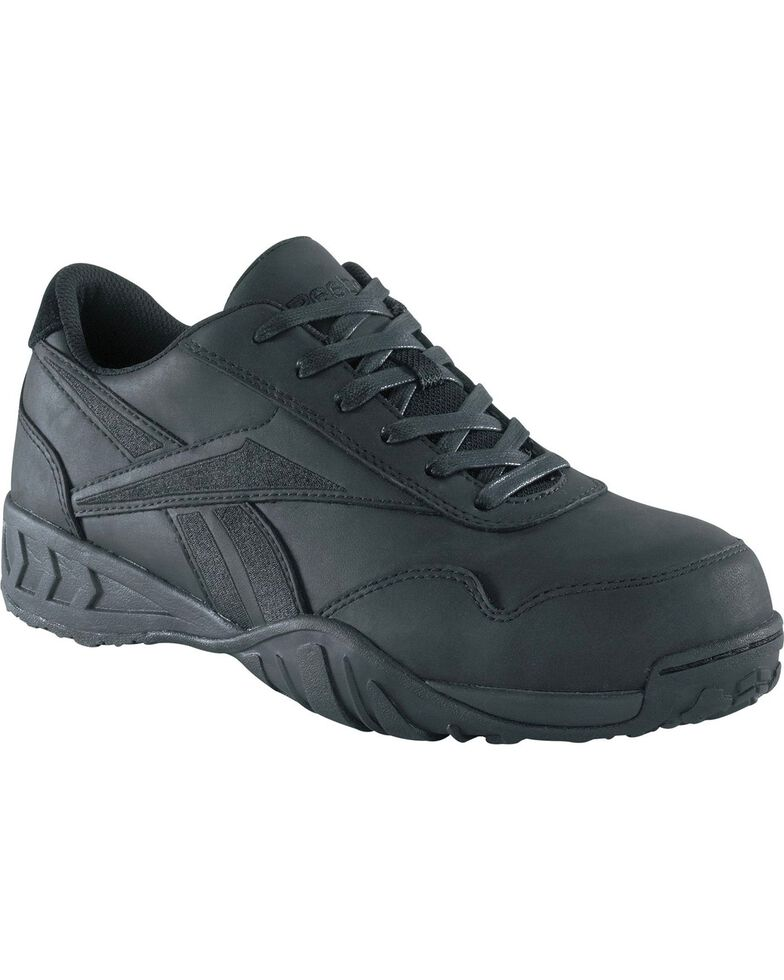 Reebok Women's Bema Eurocasual Work Shoes - Composite Toe, Black, hi-res