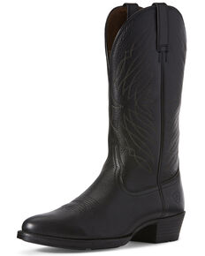 Ariat Men's Uptown Ultra Western Boots - Round Toe, Black, hi-res