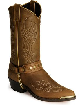 "Sage Boots by Abilene Men's 12"" Harness Boots, Brown, hi-res"
