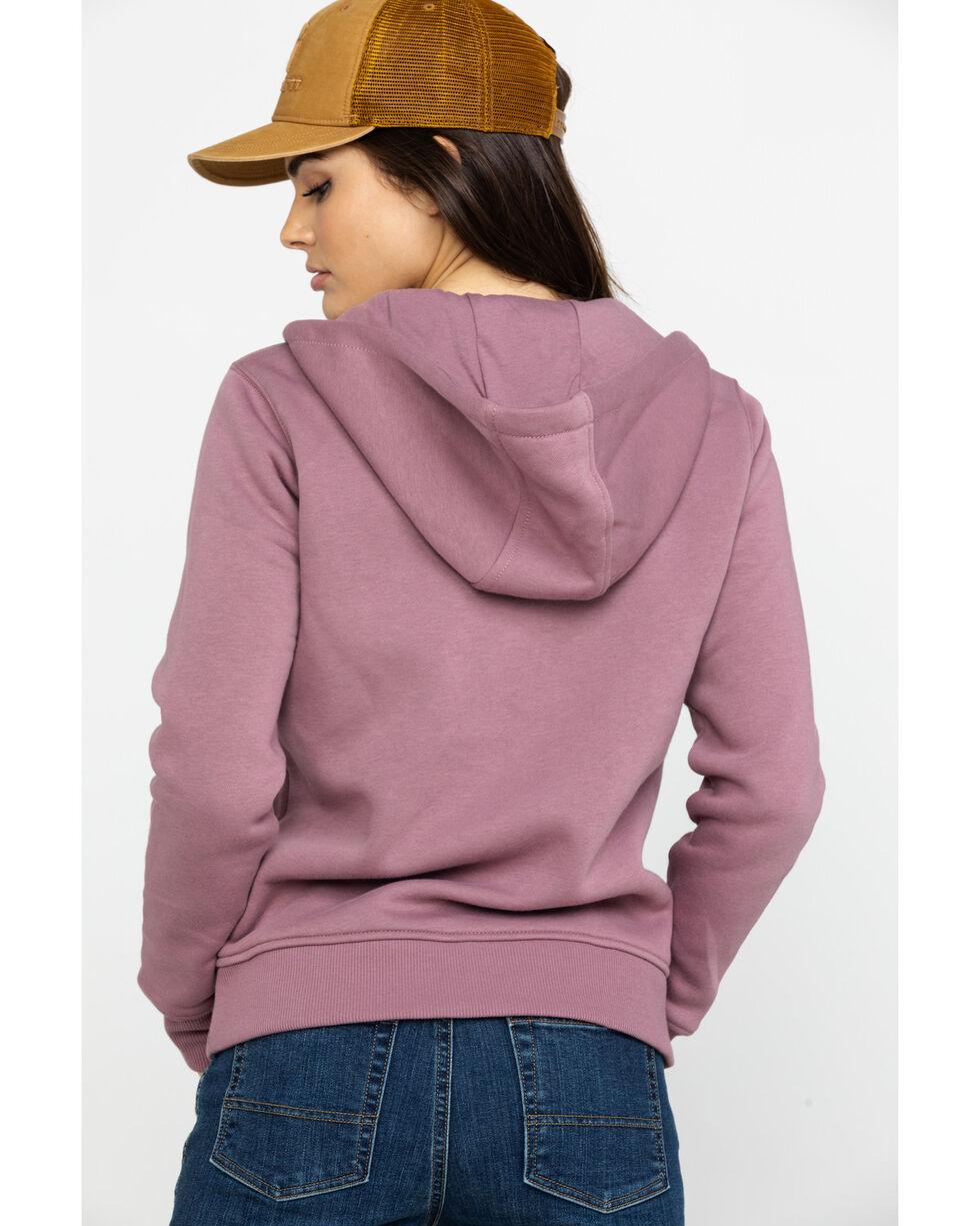 Carhartt Women's Lavender Clarksburg Hooded Zipper Jacket, Lavender, hi-res