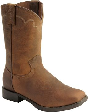 Justin Men's Naked Finish Square Toe Western Boots, Tan, hi-res