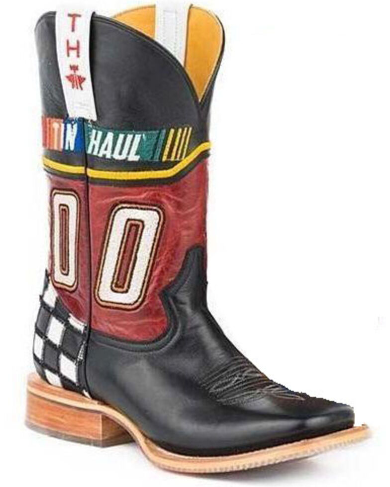 Tin Haul Men's Running Hot Western Boots - Square Toe, Tan, hi-res