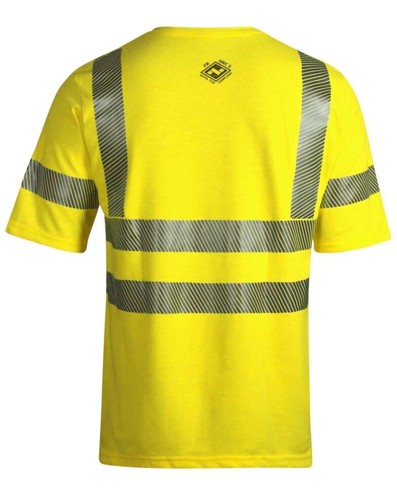 National Safety Apparel Men's 2X-3X FR Vizable Hi-Vis Short Sleeve Work T-Shirt - Tall, Bright Yellow, hi-res