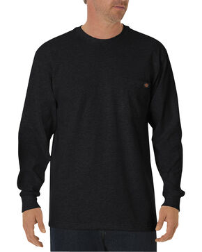 Dickies Men's Heavy Weight Crew Long Sleeve Tee, Black, hi-res