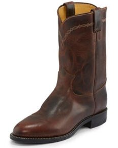 Justin Men's Brock Pecan Western Boots - Medium Toe, Medium Brown, hi-res