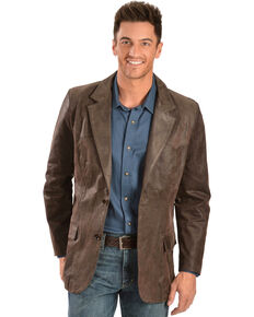 Cody James Men's Oakridge Western Leather Blazer - Big, Brown, hi-res
