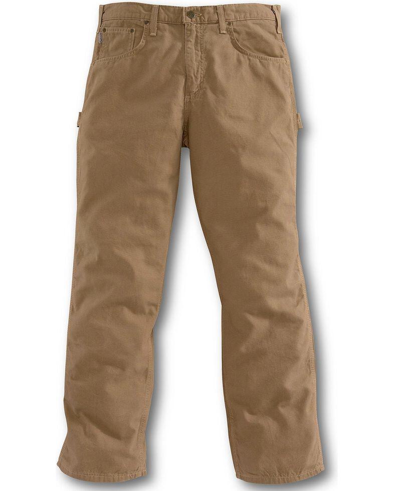 61623af9ed Zoomed Image Carhartt Men's Loose Fit Canvas Carpenter Jeans, Mushroom,  hi-res