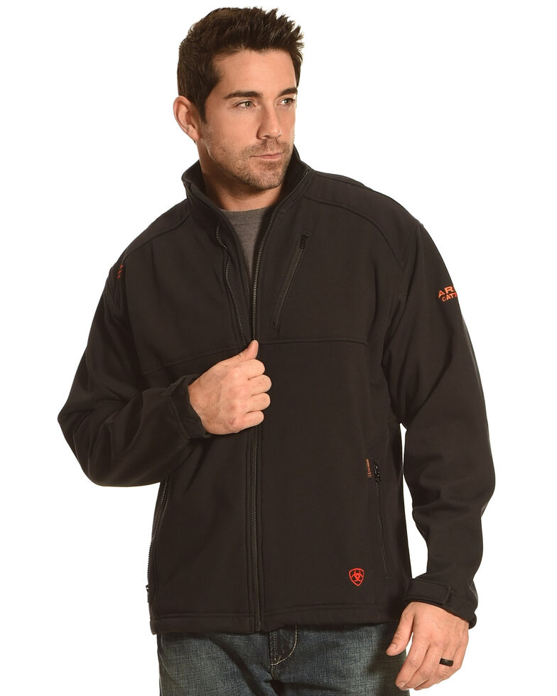 Ariat Men's Flame Resistant Black Work Jacket, Black, hi-res
