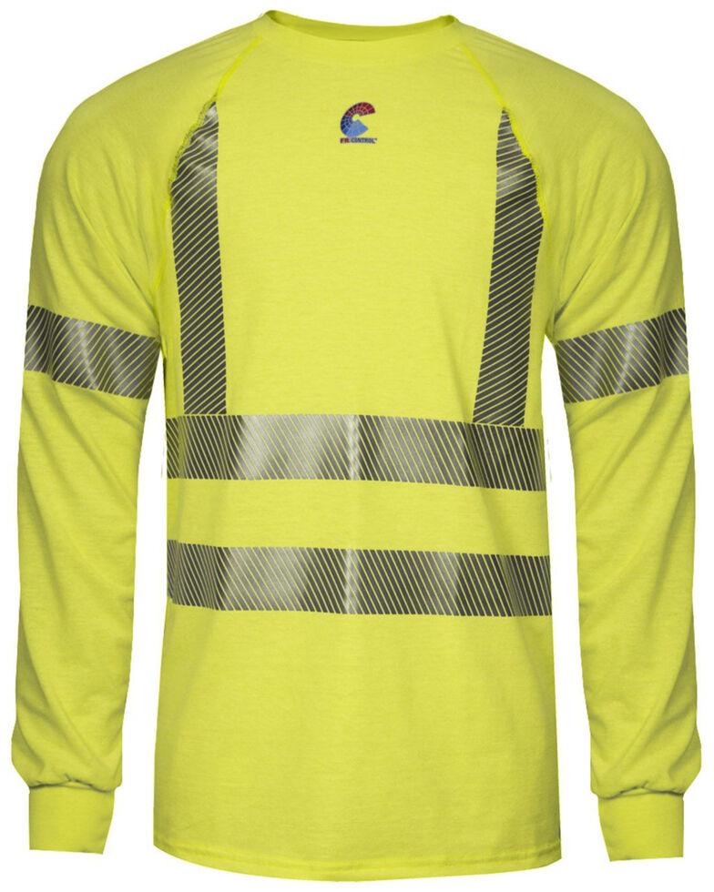 National Safety Apparel Men's Hi-Vis FR Control 2.0 LS Type R Class 3 Base Layer Shirt, Bright Yellow, hi-res