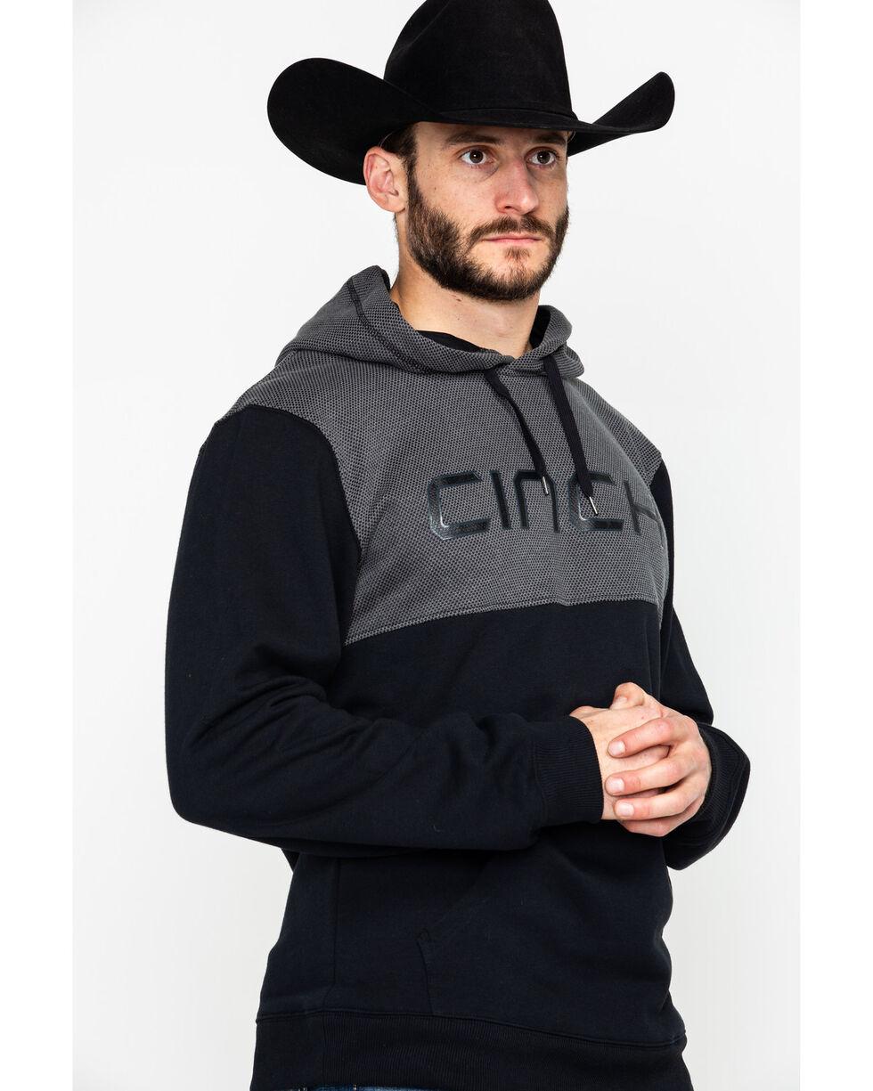 Cinch Men's Black Logo Fleece Hoodie , Black, hi-res