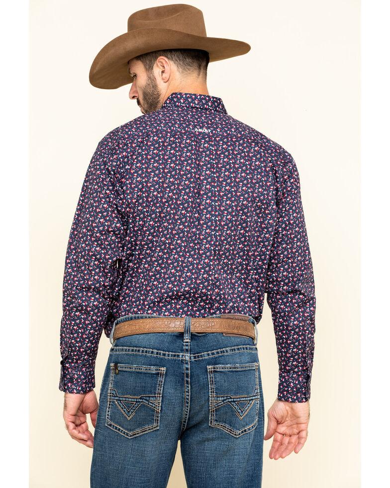 Ariat Men's Namas Stretch Floral Print Long Sleeve Western Shirt - Big , Navy, hi-res