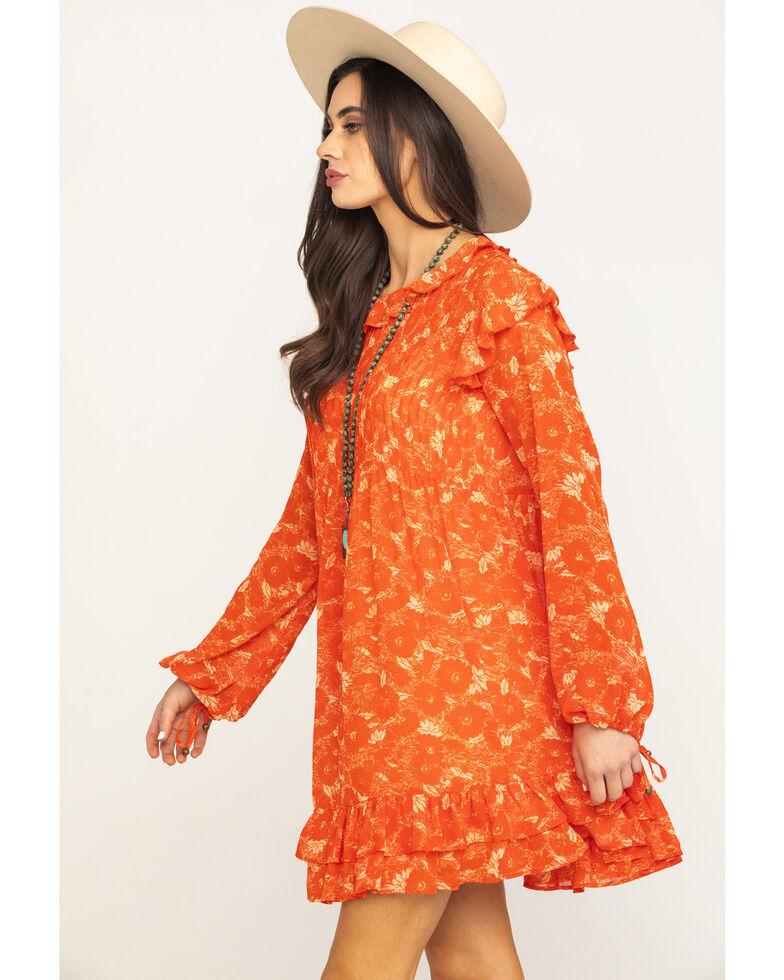 Free People Women's These Dreams Mini Dress, Orange, hi-res