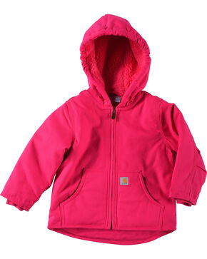 Carhartt Toddler Girls' Pink Redwood Sherpa Lined Jacket , Pink, hi-res