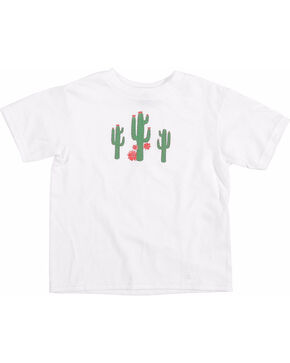Wrangler Toddler Girls' White Cactus Print T-Shirt , White, hi-res