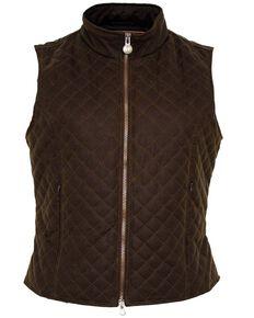 Outback Women's Oilskin Quilted Vest, Bronze, hi-res