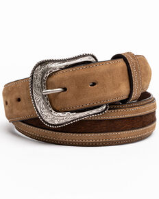 Cody James Men's Praying Cowboy Embossed Western Belt , Brown, hi-res
