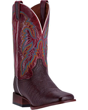 Dan Post Men's Callahan Smooth Ostrich Exotic Boots, Brown, hi-res