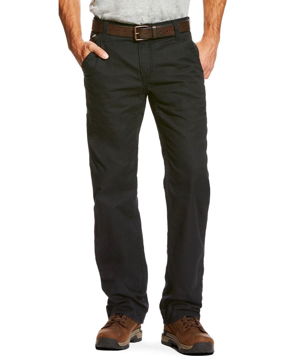 Ariat Men's FR M4 Black Workhorse Work Pants - Big , Black, hi-res