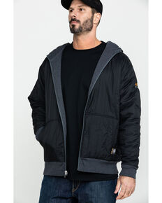 Ariat Men's Charcoal Rebar Cold Weather Reversible Work Hoodie - Big & Tall , Charcoal, hi-res