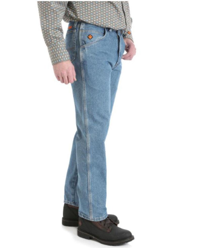 Wrangler FR Men's Light Wash Cool Vantage Relaxed-Fit Work Jeans , Blue, hi-res