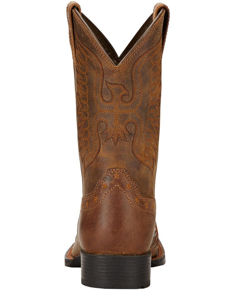 Ariat Boys' Honor Cowboy Boots - Square Toe, Distressed, hi-res