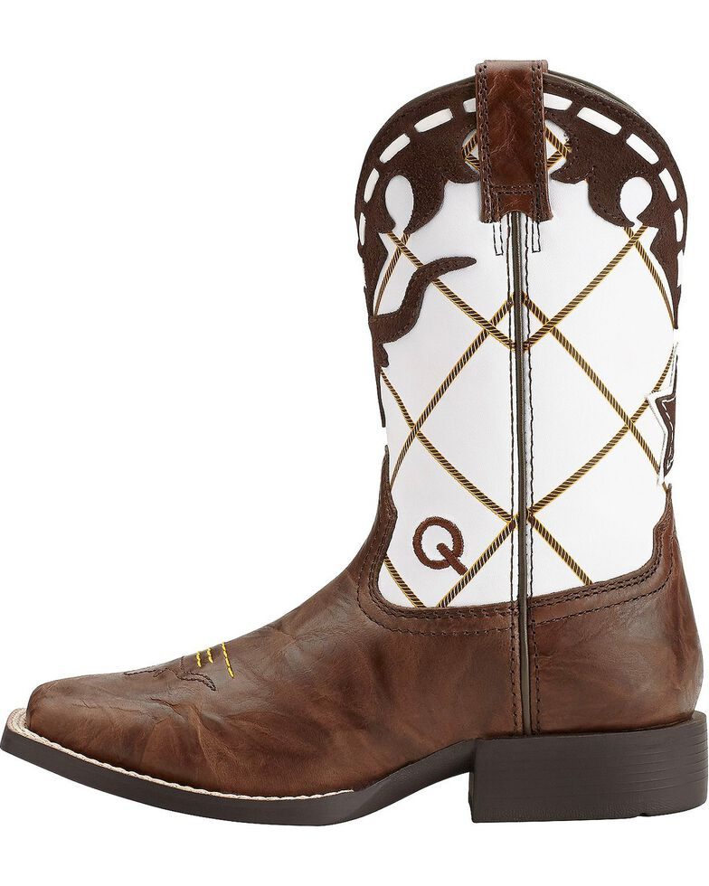 Ariat Boys' Dakota Dogger Cowboy Boots - Square Toe, Brown, hi-res