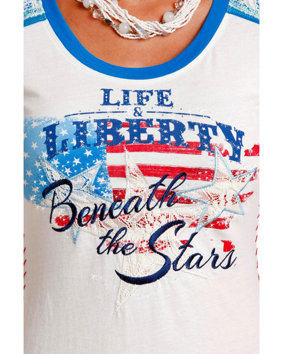 Panhandle Women's Life & Liberty Short Sleeve T-Shirt, White, hi-res