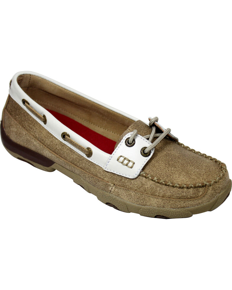 Twisted X Women's Driving Mocs, Tan, hi-res
