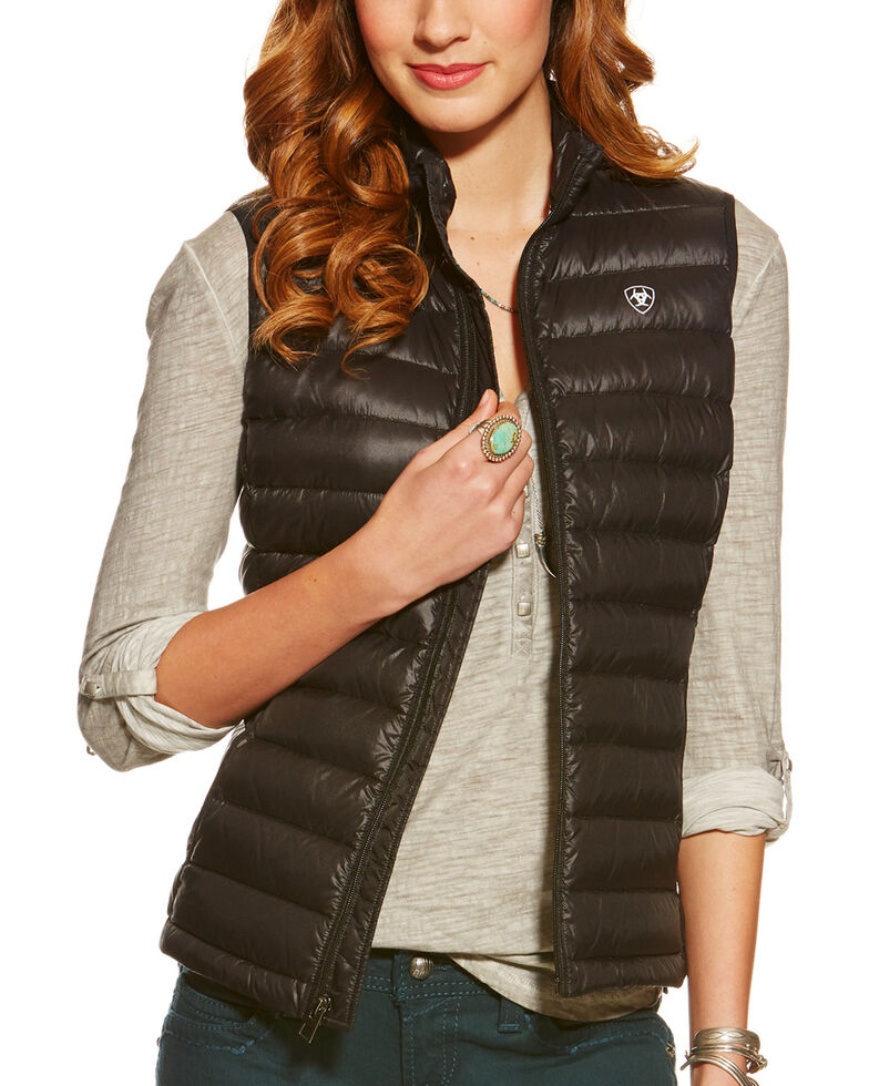 Ariat Women's Ideal Down Vest, Black, hi-res