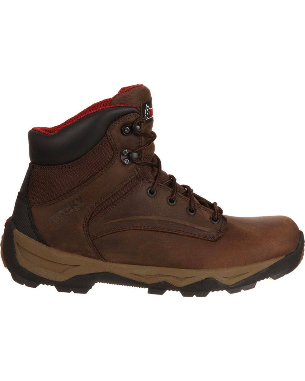 Rocky Boot Men's Retraction Waterproof Work Boots, Brown, hi-res