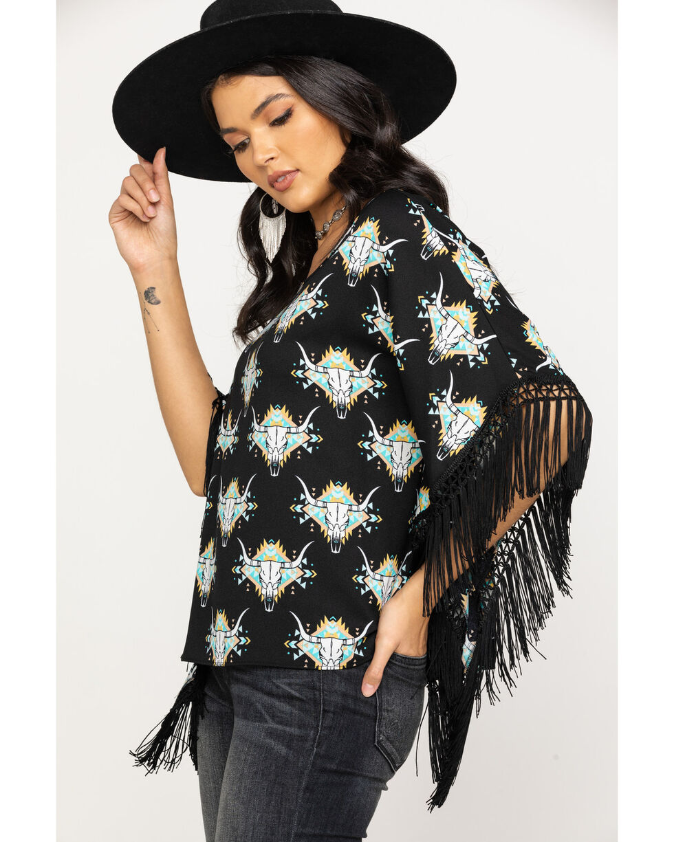 Ariat Women's Roadie Poncho Top, Multi, hi-res