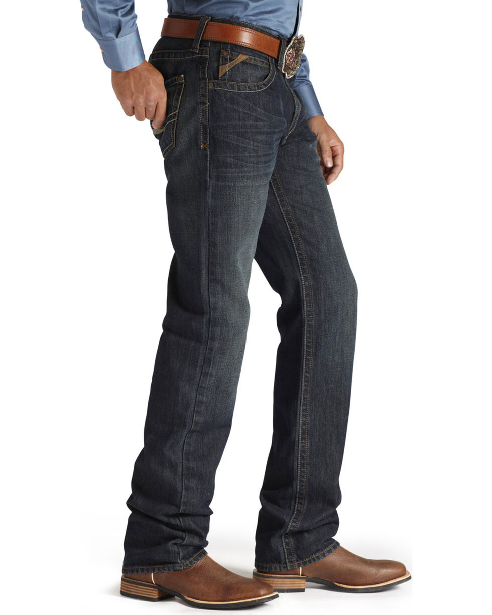 Ariat Men's M3 Loose Low Rise Straight Leg Jeans, Dark Denim, hi-res