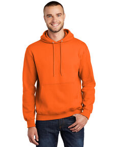 Port & Company Men's Safety Orange Essential Hooded Work Sweatshirt - Big , Bright Orange, hi-res