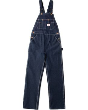 Round House Men's Zipper Fly Denim OVeralls, Rigid Indigo, hi-res