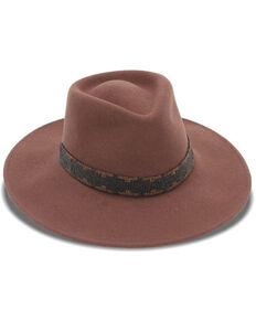 Nikki Beach Women's Cognac Rogue Western Felt Rancher Hat , Rust Copper, hi-res