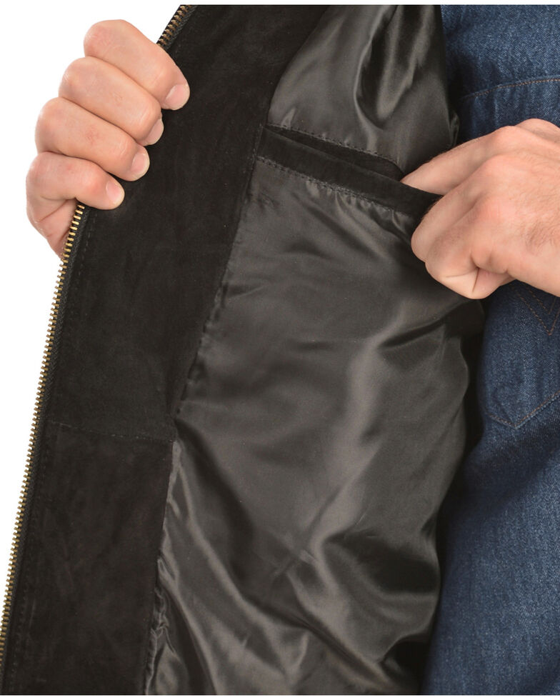 Scully Men's Two-Toned Boar Suede Rodeo Jacket, Black, hi-res