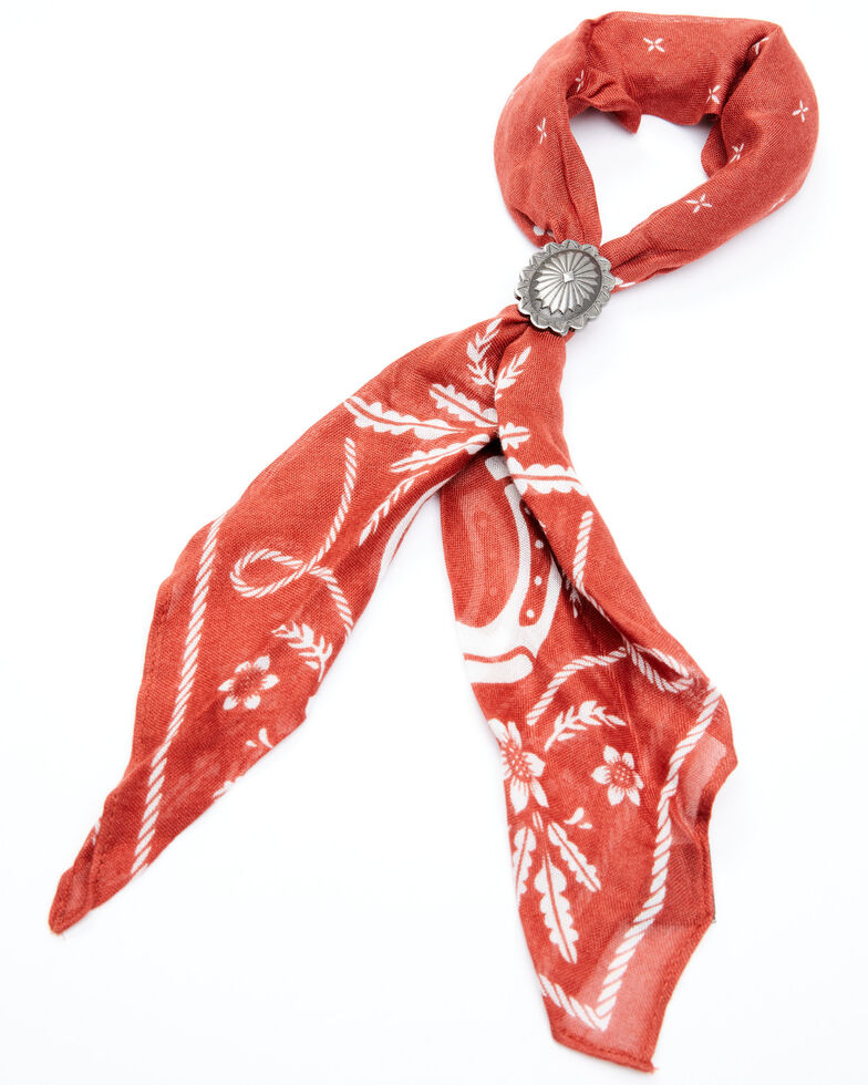 Idyllwind Women's Red From The West Bandana Necklace, Red, hi-res
