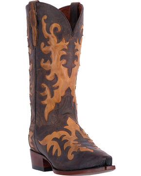Dan Post Men's Beau Cowboy Boots - Snip Toe , Med Brown, hi-res