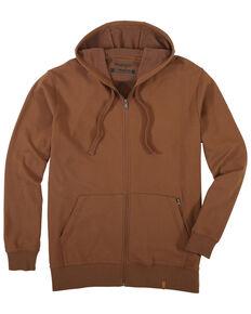 Wrangler Riggs Men's Coffee Full Zip Hooded Thermal Work Jacket , Coffee, hi-res